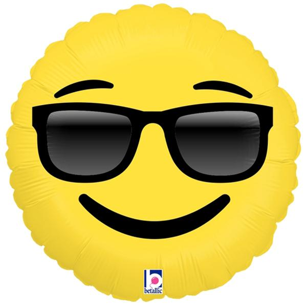 Emoji Sonnenbrille Ballon