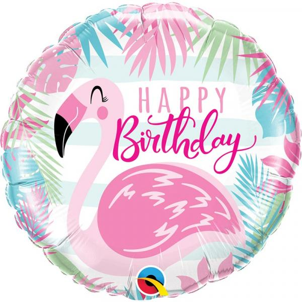 Flamingo Happy Birthday Ballon