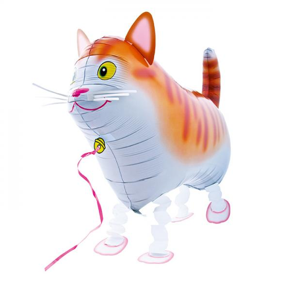 Katze Folienballon Airwalker