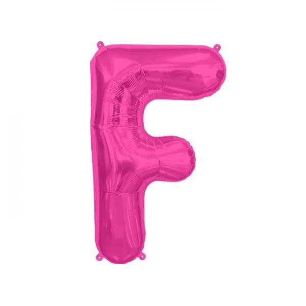 Buchstabe F Folienballon Pink