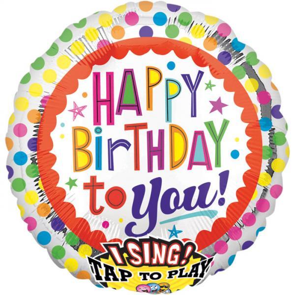 Happy Birthday to you Folienballon Musikballon