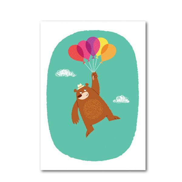 Postkarte Big Phil und Freunde Fliegender Bär