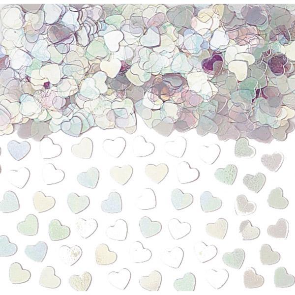 Konfetti Herzform irisierend