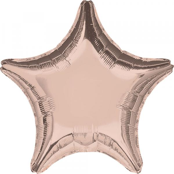 Sternballon rosegold