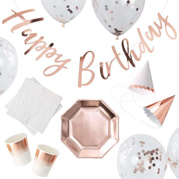 Party In A Box Set Rosegold