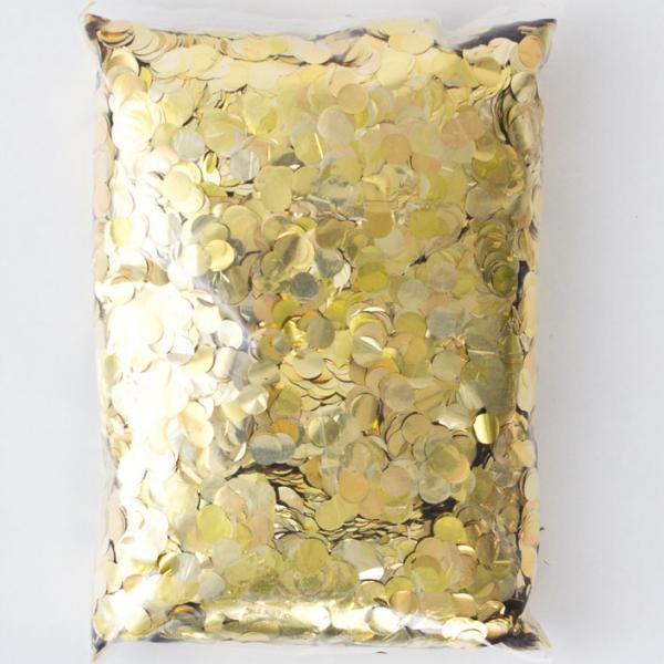 Konfetti Gold rund 500 g Packung