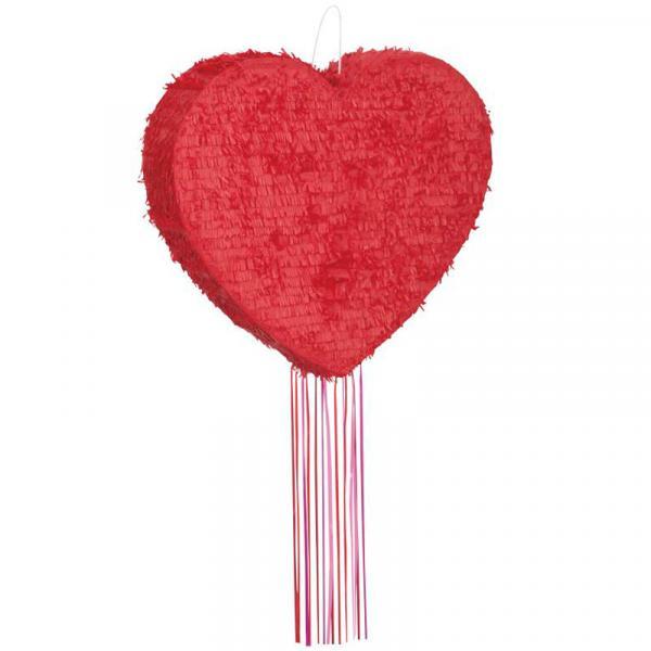 Pinata Herz Rot zum Ziehen