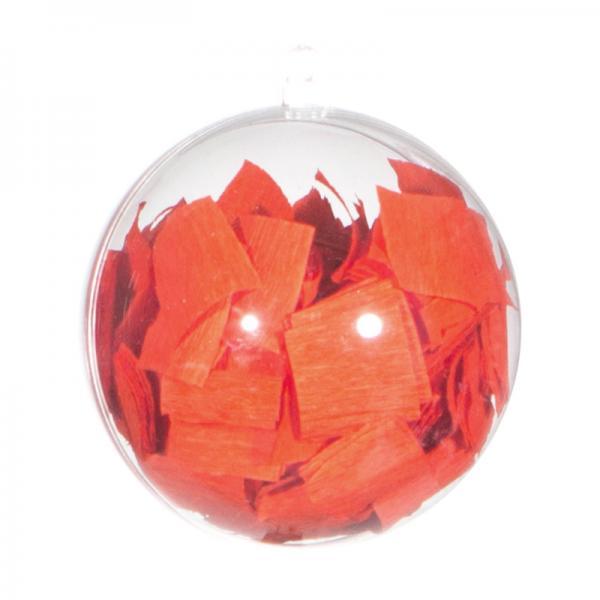 Ballongewicht / Geschenkkugel Konfetti orange