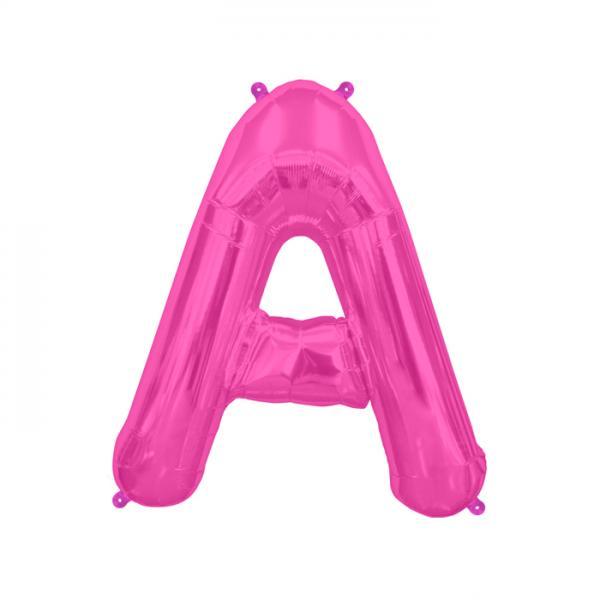 Buchstabe A Folienballon Pink
