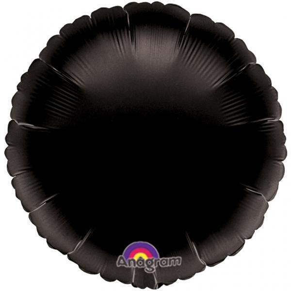 Folienballon Rund schwarz