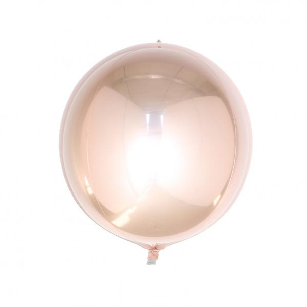 Orbz Kugel Folienballon Rosegold 25cm