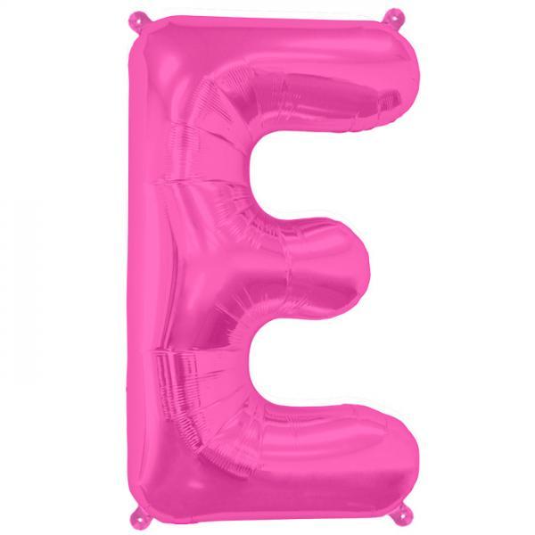 Buchstabe E Folienballon Pink XXL