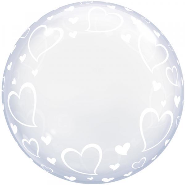 Bubble Herzen Ballon