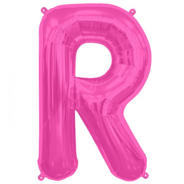 Buchstabe R Folienballon Pink XXL