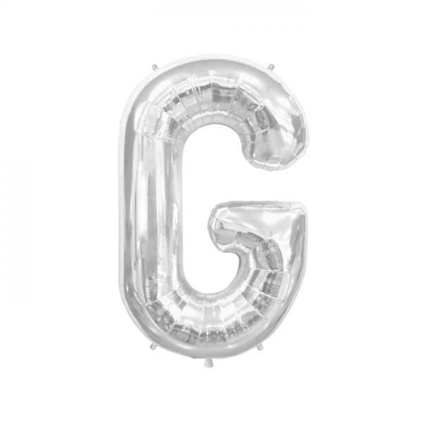 Buchstabe G Folienballon Silber