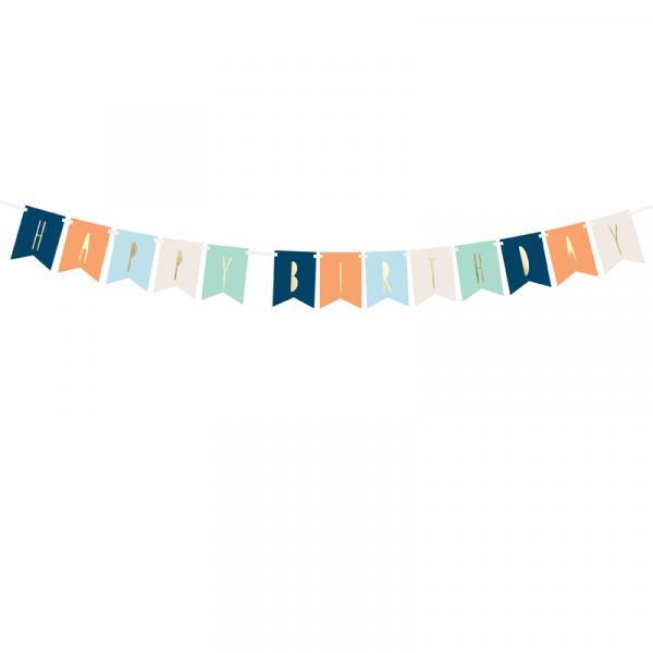 Girlande Banner Happy Birthday