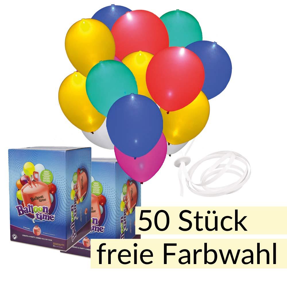 led ballon set 50 mit helium ballons und band balloon fantasy partyboutique. Black Bedroom Furniture Sets. Home Design Ideas