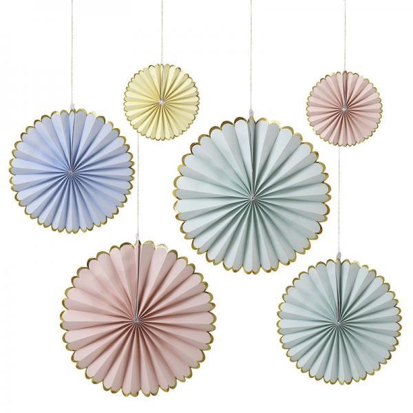 Papierfächer Pastel