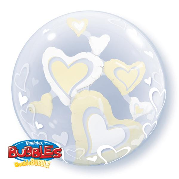 Schwebende Herzen im Ballon Bubble Ballon