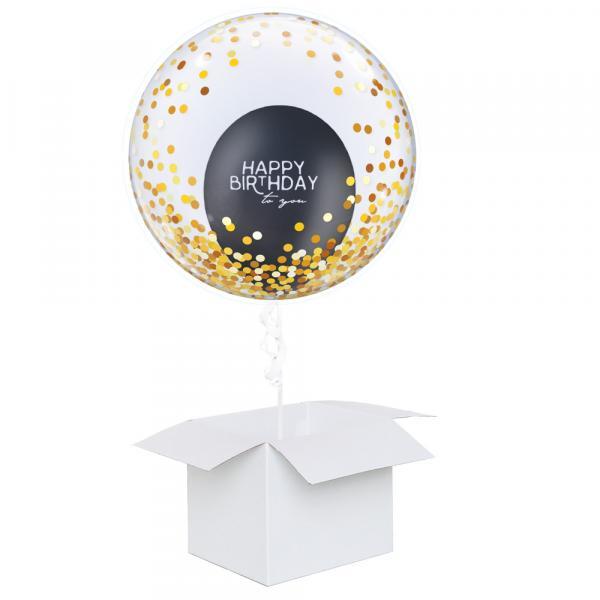 Schwebender Geschenkballon