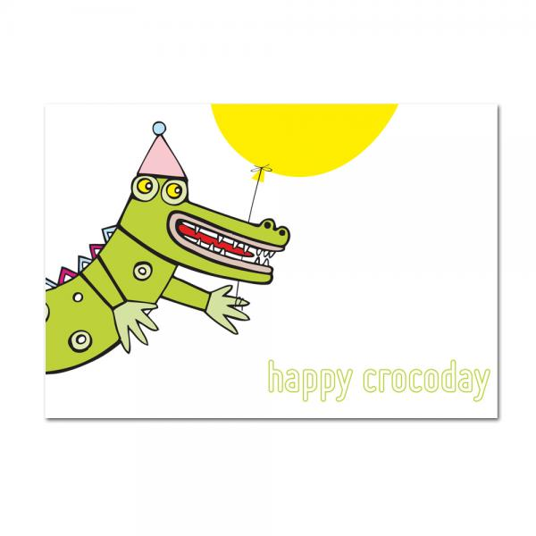Grußkarte Happy Crocoday