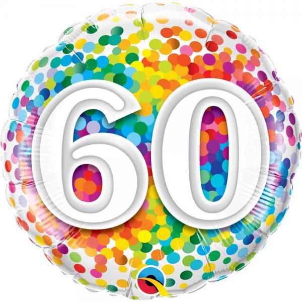 Zahl 60 Ballon