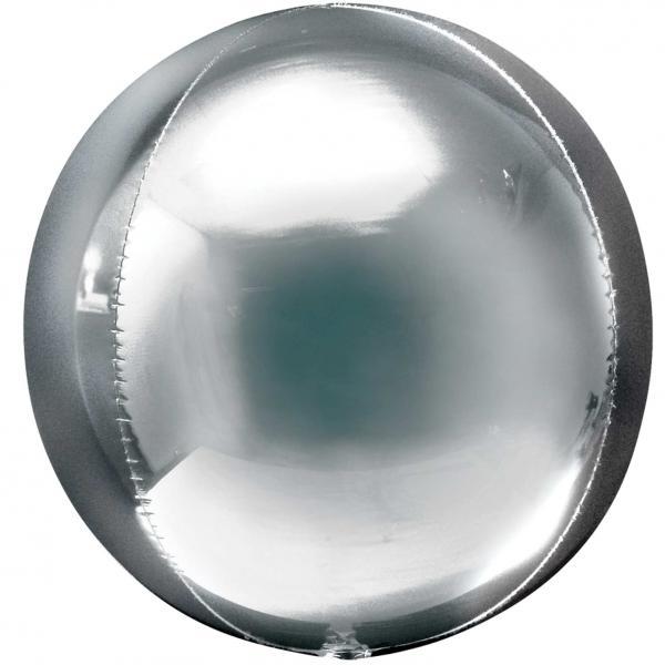 Kugelballon Orbz Folie Silber