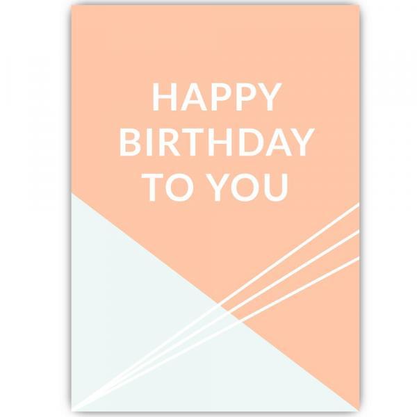 Happy B Day GEO Postkarte