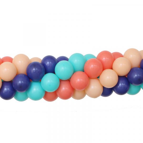 Ballongirlande Vierfarbig