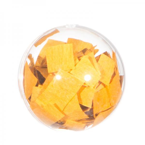 Ballongewicht / Geschenkkugel Konfetti gold