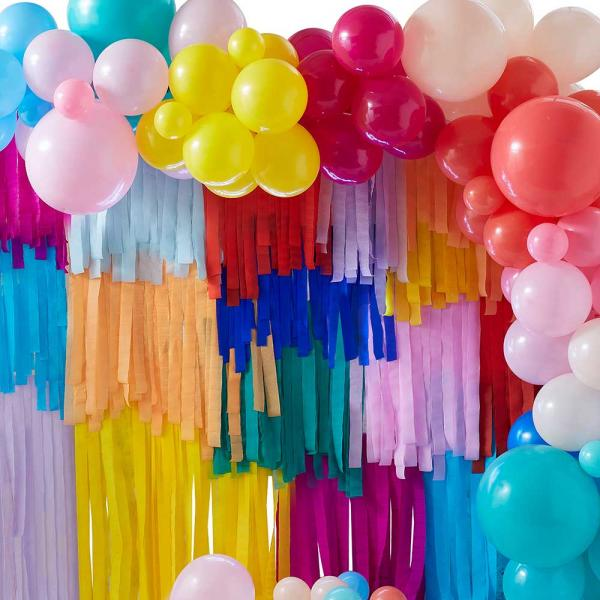 Hintergrund Deko Set Ballonbogen & Streamer
