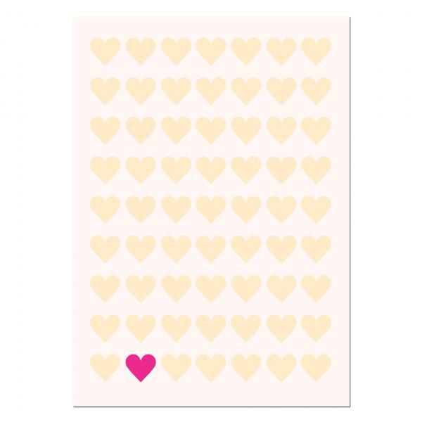 Ballonweitflugkarte Hochzeit Hearts
