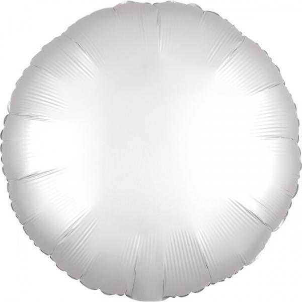 Ballon Rund Chrome Weiss