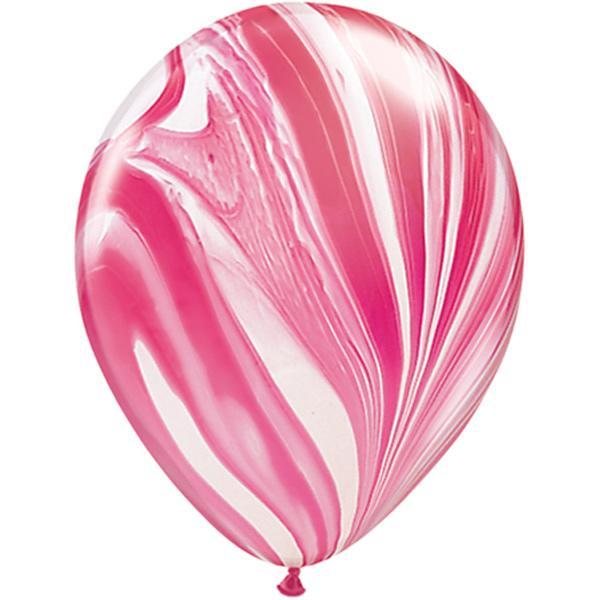 marmor ballon rot weiss