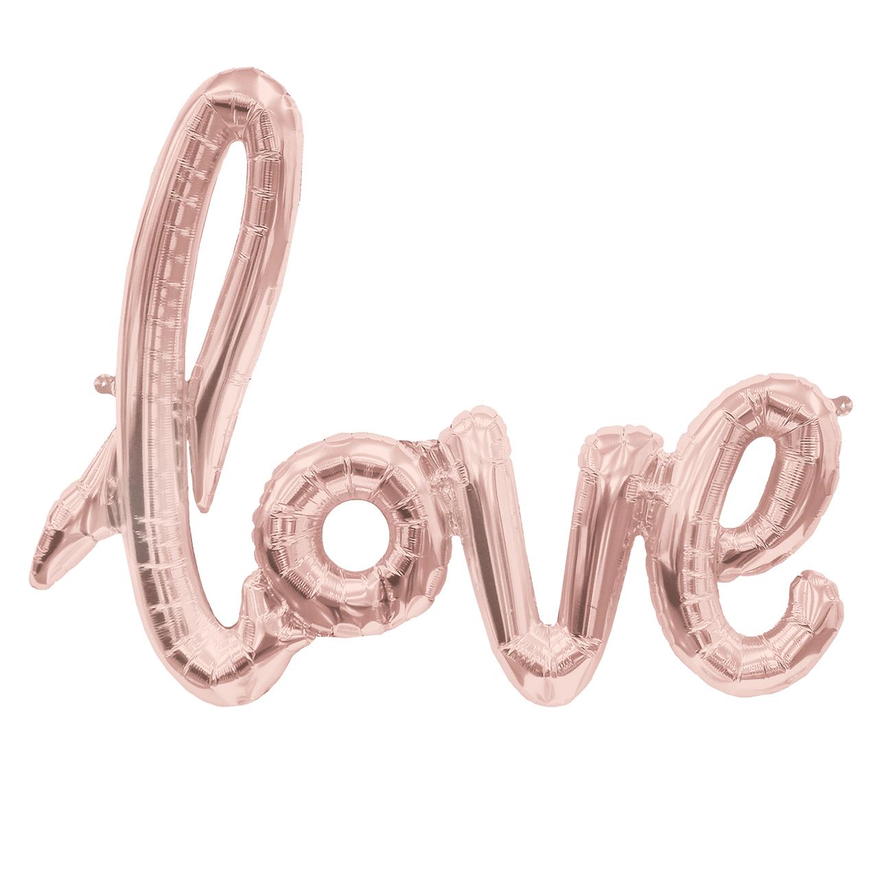 Love Schriftzug Ballon Rosegold Balloon Fantasy