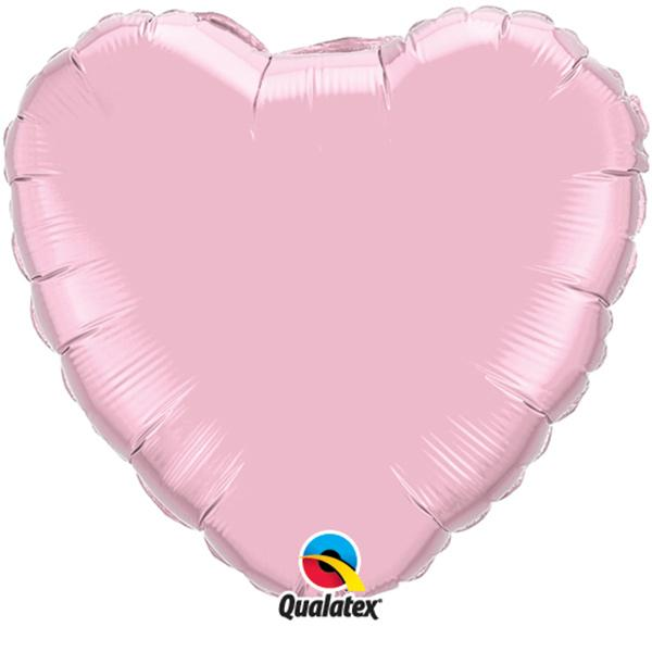 Folienballon Herz Rosa