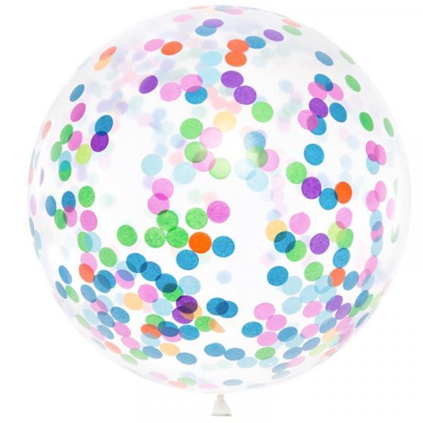 Konfetti Ballon Bunt XXl