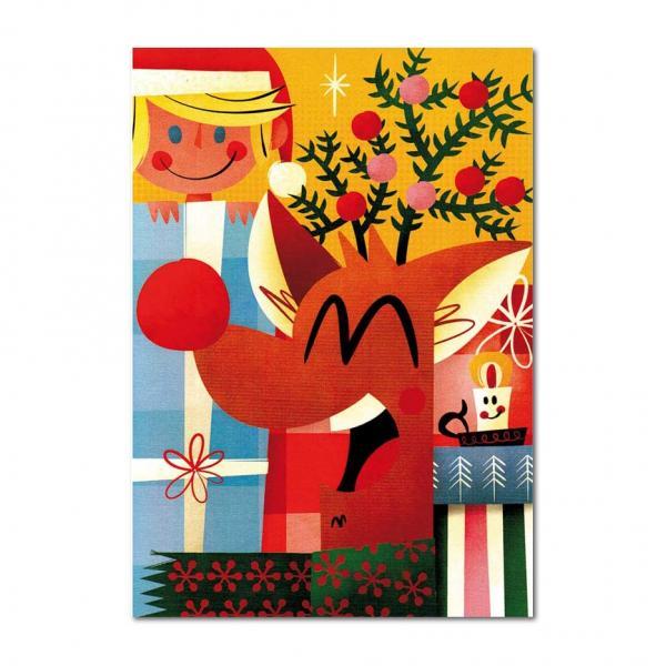 Grußkarte Pintachan Weihnachtsreh