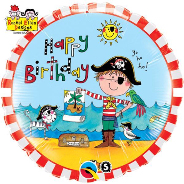 Happy Birthday Pirat Folienballon