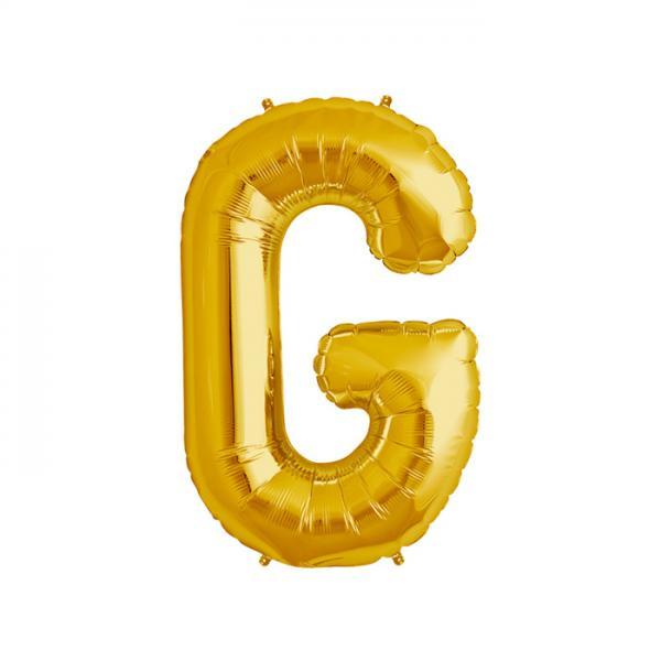 Buchstabe G Folienballon Gold