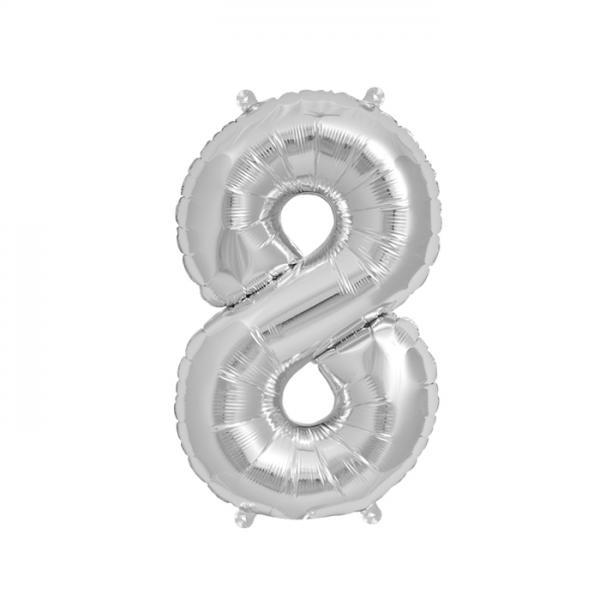 Zahlenballon 8