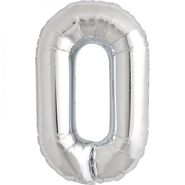 Buchstabe O Folienballon Silber XXL