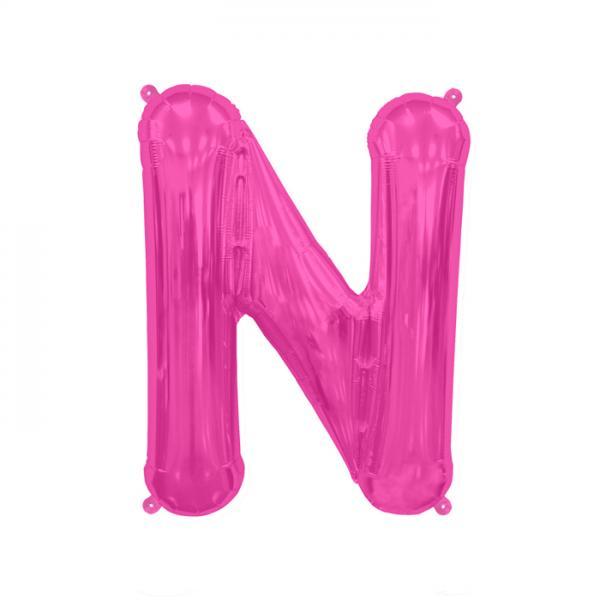 Buchstabe N Folienballon Pink