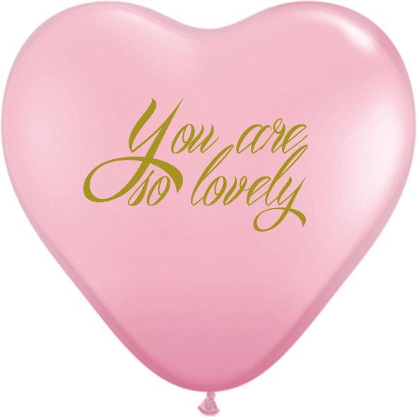Ballondruck Herzballon