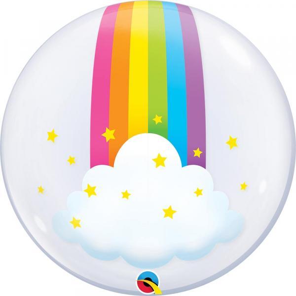 Regenbogen Wolken Bubble Ballon