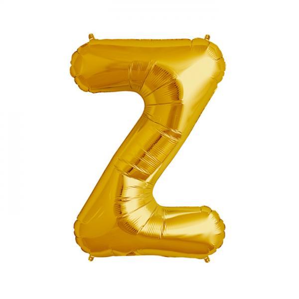 Buchstabe Z Folienballon Gold