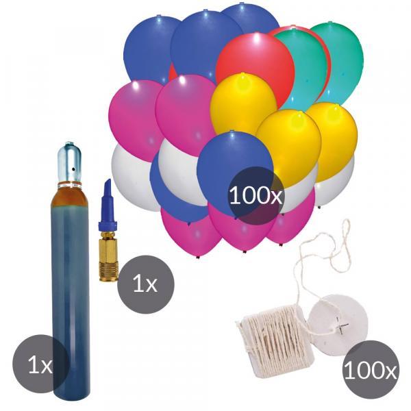 LED LEUCHT luftballons Ökobänder und Helium