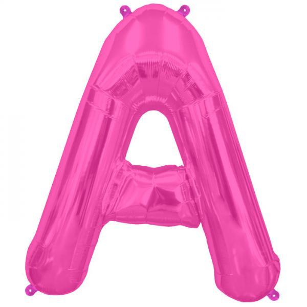 Buchstabe A Folienballon Pink XXL