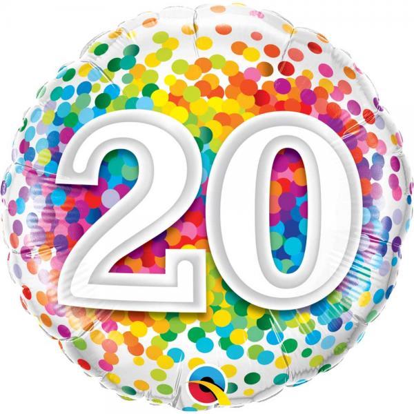 Zahl 20 Ballon