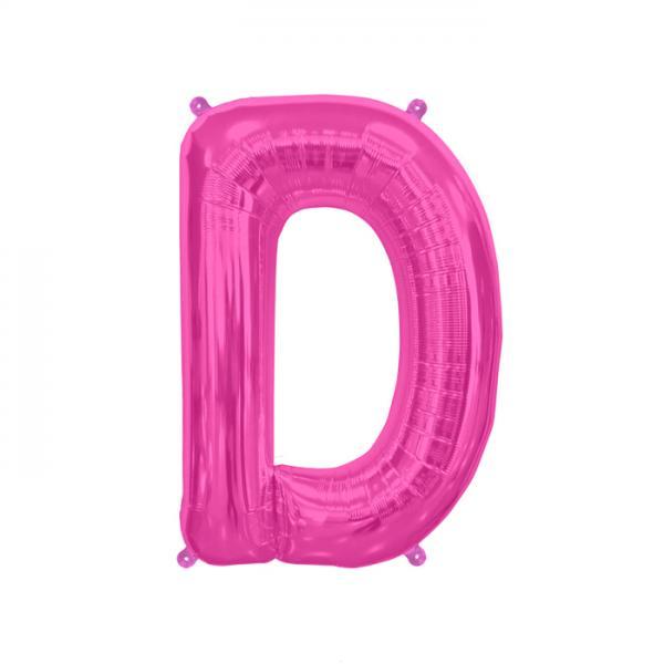Buchstabe D Folienballon Pink